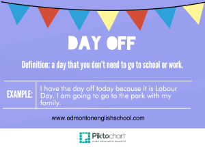 What is the meaning of DAYS OFF?