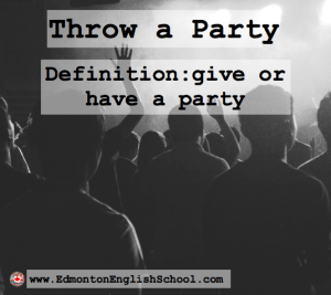 Learning English Online-throw a party