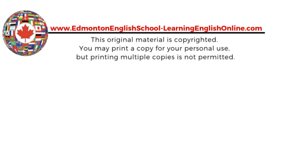 Edmonton English School - Learning English Online copyright